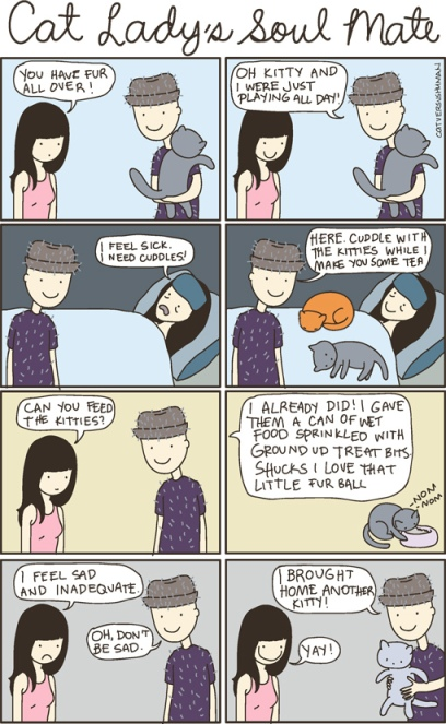 dating a man with cats