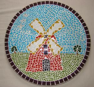 mosaico moinho
