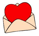 email coração carta
